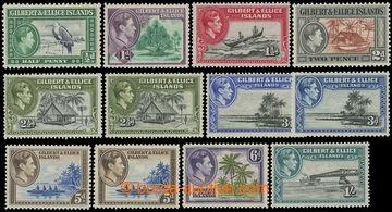 216106 - 1939-1955 SG.43-54, Jiří VI. - Krajinky, ½P - 10Sh, kompl