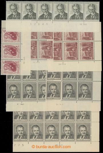 216126 - 1952-1957 DATA TISKU / sestava 40ks pásek a bloků sdaty