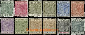 216148 - 1889-1896 SG.22-33, Viktorie 5C - 5Pta, kompletní série, p
