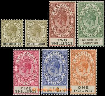 216161 - 1925-1932 SG.102-107, Jiří V. 1Sh - £1, kompletní série