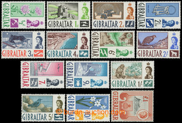 216165 - 1960-1962 SG.160-173, Alžběta II. - Motivy ½P - £1, komp