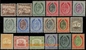 216172 - 1904-1914 SG.45-63, Edvard VII., ¼P - 5Sh, kompletní řada