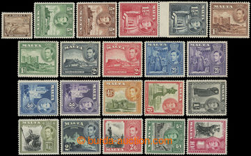 216179 - 1938-1943 SG.217-231, George VI. - Motives, ¼P - 10Sh, comp