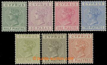 216183 - 1882-1886 SG.16a-22, Viktorie ½Pi - 12Pi, kompletní řada