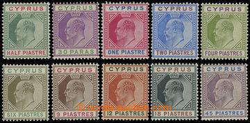 216186 - 1902-1904 SG.50-59, Edvard VII., ½Pi - 45Pi, kompletní řa