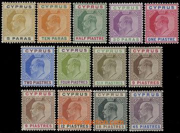 216187 - 1904-1910 SG.60-71, Edvard VII., 5Pa - 45Pi, kompletní řad