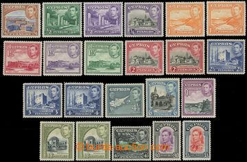 216195 - 1938-1951 SG.151-163, Jiří VI. - Krajinky ½Pi - £1, komp