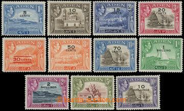 216200 - 1951 SG.36-46, Jiří VI. - Krajinky, 5C/1A - 10Sh/10Rs, kom