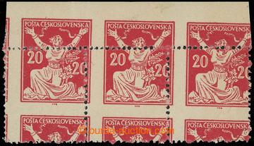 216254 -  Pof.151 VV, 20h červená, vodorovná 3-páska s VV - výra