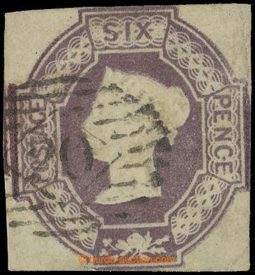 216272 - 1847-1854 SG.59, Embossed 6P fialová, lehčí čárové raz