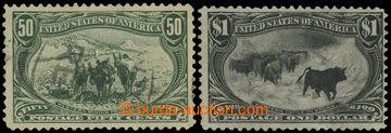 216273 - 1898 Sc.291, 292, Trans-Mississippi 50C a 1$ černá; lehké