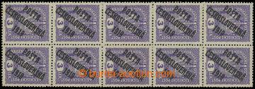 216297 -  Pof.33, STA+B+D, Koruna 3h fialová, svislý 10-blok se spo