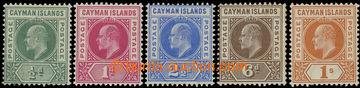 216342 - 1902-1903 SG.3-7, Edvard VII. ½P - 1Sh, kompletní série,