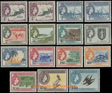 216347 - 1956-1962 SG.149-161, Alžběta  II. - Motivy ½C - $1, komp