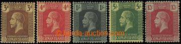 216358 - 1921-1926 SG.60-67, Jiří V. 3P - 10Sh, kompletní série,