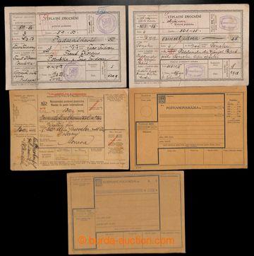 216374 - 1919-1937 Výplatní zmocnění + Poštovní poukázky  sest