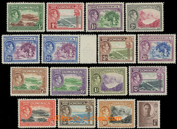 216387 - 1938-1947 SG.99-109a, Jiří VI. - Krajinky, ¼P - 10Sh, kom