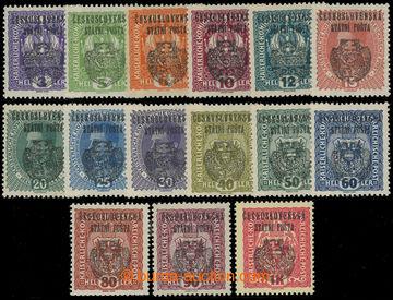 216390 -  Pof.RV22-RV36, Pražský přetisk II (velký znak), hodnoty