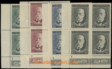 216394 - 1930 Pof.261-264DČ, 80. narozeniny TGM 2Kč - 10Kč, sestav