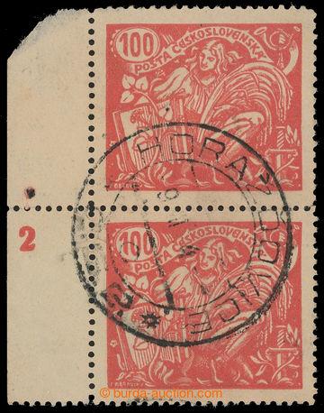 216553 -  Pof.173A, 100h červená, svislá 2-páska s levým okrajem