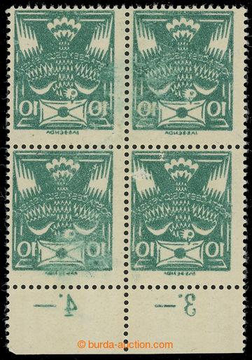 216621 -  Pof.145A Ob, 10h tmavě zelená, 4-blok s dolním okrajem,