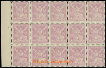 216622 -  Pof.153A Ob, 30h fialová, 15-blok s pravým okrajem, HZ 14