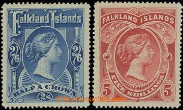 216649 - 1898 SG.41-42, Viktorie 2Sh6P tmavě modrá a 5Sh červená,