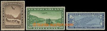 216720 - 1931 SG.192-194, Letecké 15C - $1; kompletní sestava 3ks,