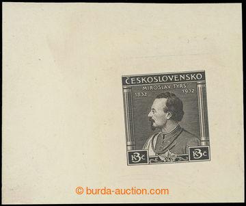 216762 - 1932 ZT  Tyrš, otisk původní rytiny hodnoty 3Kč v černo