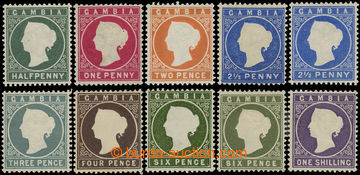 216785 - 1886-1893 SG.21-35, Viktorie ½P - 1Sh, kompletní řada 8 z