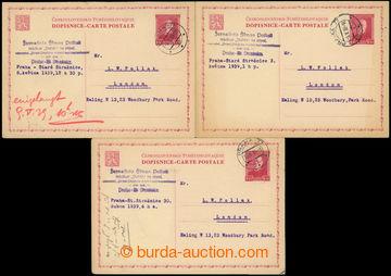 216799 - 1939 předběžná čs. dopisnice pro cizinu CDV44, TGM 1,50