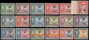 216800 - 1938-1946 SG.150-161, George VI. - Elephants, ½P - 1Sh, com