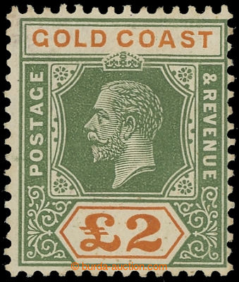 216812 - 1921-1924 SG.102, George V., £2 green / orange, DIE I, wmk