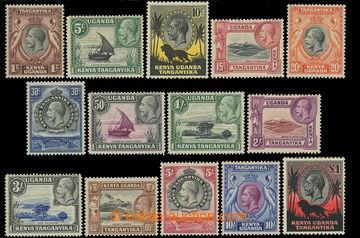 216823 - 1935-1937 SG.110-123, Jiří V. - Motivy 1C - £1, kompletn�