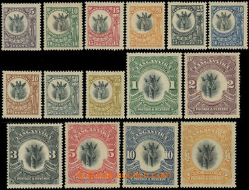 216827 - 1922-1924 SG.74-88, 5C - £1, complete set of 15 stamps, wmk