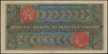 216860 - 1922 Ba.19b, 50CZK Rozsévač, set 052, number 145960; only