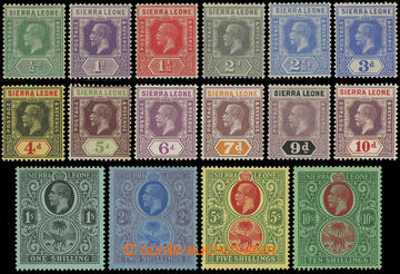 216882 - 1921-1927 SG.131-146, George V. and Elephant, ½P - 10Sh, co