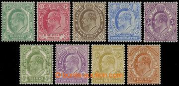 216904 - 1902-1904 SG.70-78, Edvard VII. ½P - 5Sh, kompletní řada
