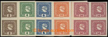 216965 - 1916 NOVINOVÉ / Mi.212-216, Merkur vlevo 2h - 30h, kompletn