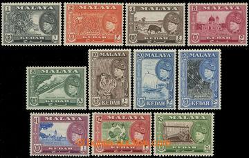 217033 - 1957 SG.92-102, Sultán Badlishah - Motivy, 1C - $5, komplet