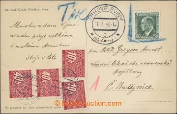 217076 - 1940 pohlednice vyfr. čs. zn. Beneš 50h, Pof.314, podací