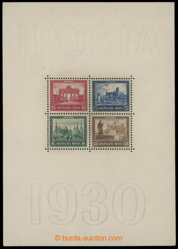 217087 - 1930 Mi.Bl.1, miniature sheet IPOSTA, size 104x148mm; overal