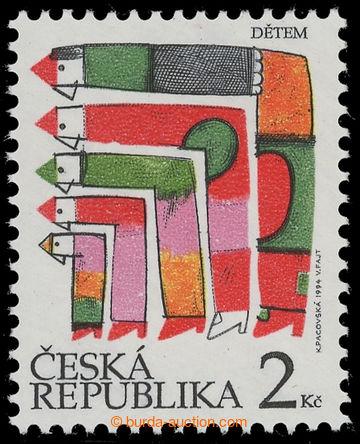 217253 - 1994 Pof.41a DV, Den dětí 2Kč, jasně červená, DV 28/2
