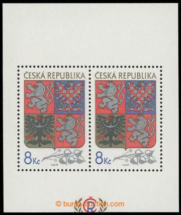 217254 - 1993 Pof.A10 VV, aršík Velký státní znak 8Kč, odlišn�