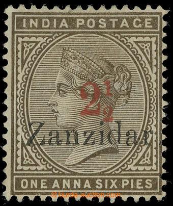 217287 - 1895 SG.22j, indická Viktorie 1A6P s červeným přetiskem