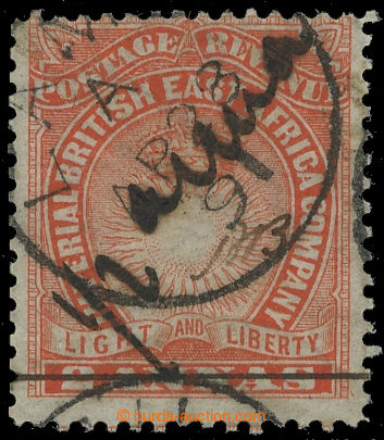 217291 - 1891 SG.23a, MOMBASA PROVISORIUM, Light and Liberty 2A s př