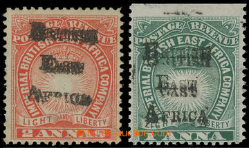 217292 - 1895 SG.34a, 35a, Light and Liberty 1A a 2A cihlově červen