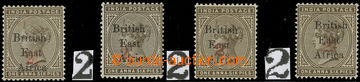 217293 - 1895 SG.64, indická Viktorie 1½A s červeným přetiskem 2