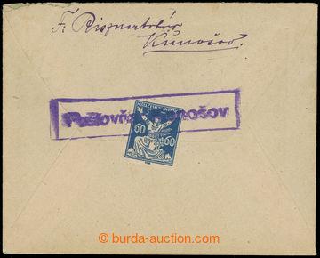217365 - 1925? POŠTOVŇA KONOŠOV  rámečkové fialové razítko p�
