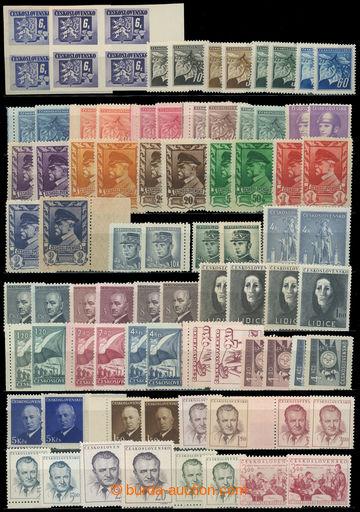 217401 - 1945-1953 Pof.370-716  BAREVNÉ ODSTÍNY selection of 120 pc